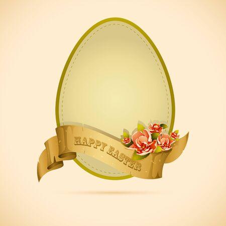 Vintage Easter Egg Vector