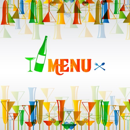 Restaurant wine bar menu design Vector