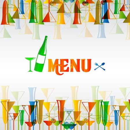 Ristorante wine bar menu design