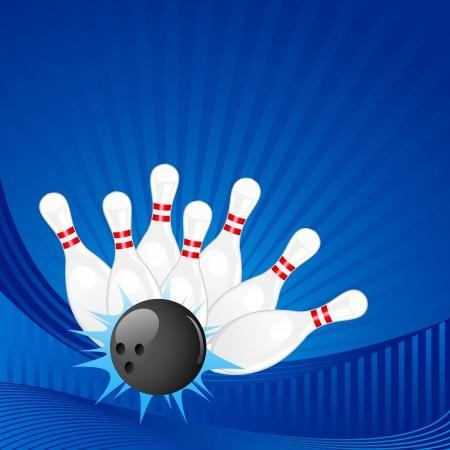 bowling pin: Bowling Pin Illustration