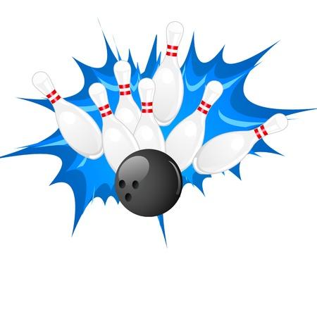Bowling Pin Stock Vector - 18810714