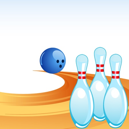 Bowling Pin Alley auf Illustration