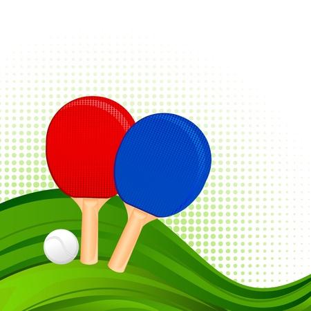 tennis racquet: De ping-pong Raquetas y bolas Vectores