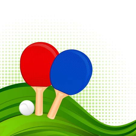 Ping-Pong Rackets and Ball Vector