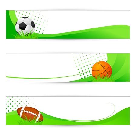 bannière football: Bannière Sport Illustration