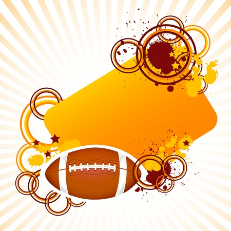 Rugby Ball Stock Vector - 18810755