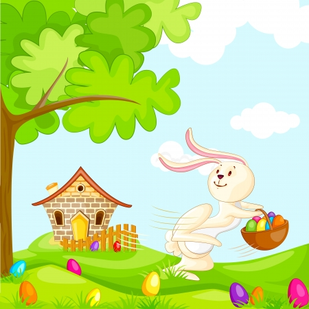 Easter Bunnies Stock Vector - 19001909