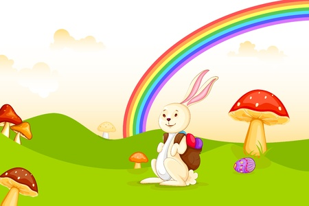 Bunny with Easter Egg Stock Vector - 19001901