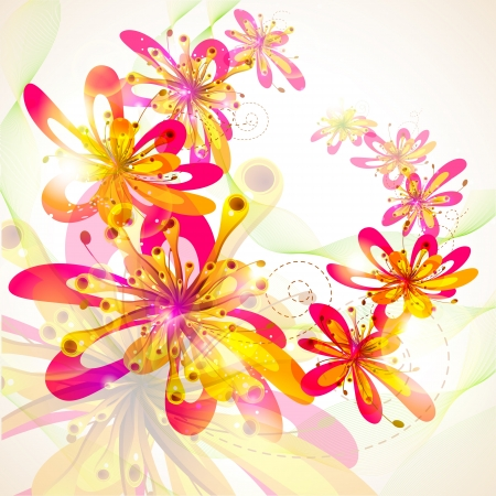 Colorful Flower Stock Vector - 19001922