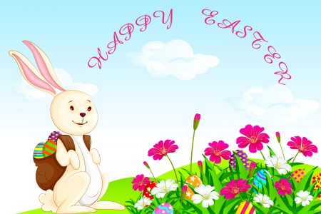 Bunny with Easter Egg Stock Vector - 19001917
