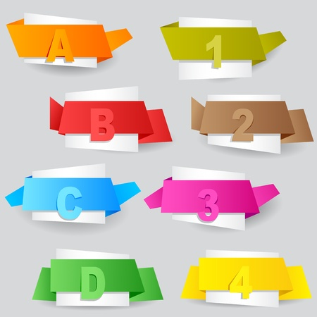 vector illustration of colorful tag for different options Stock Vector - 19259536
