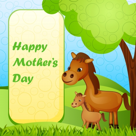 Mother and baby Horse Stock Photo - 19259009