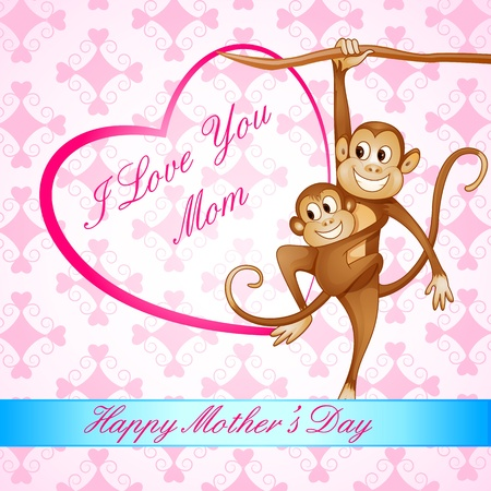 Monkey Swinging with Kid Stock Photo - 19259001