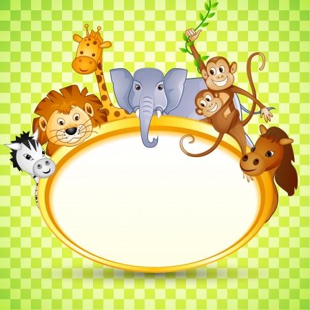 Animal in Baby Shower Invitation Stock Photo