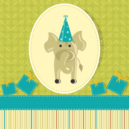 Elephant in Birthday Card Stock Photo - 19259546