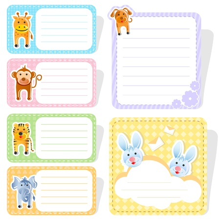 name tag: Cute Animal Label