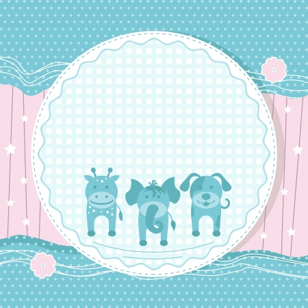 Animals in Baby Card Stock Photo - 19259006