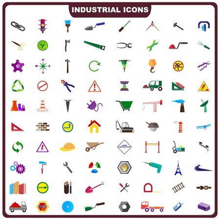 Colorful Industrial Icon Vector