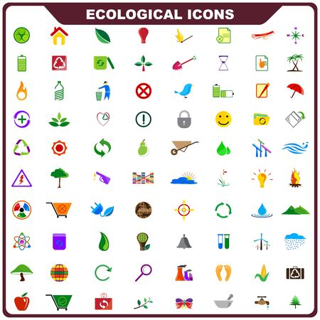 Colorful Ecological Icon Stock Vector - 19372677