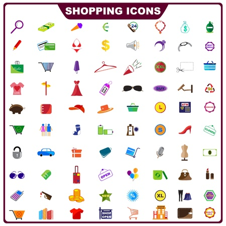 Colorful Shopping Icon Illustration