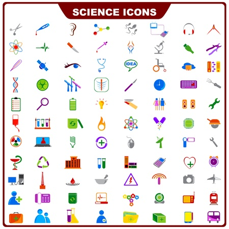 bunsen burner: Colorful Science Icon Illustration
