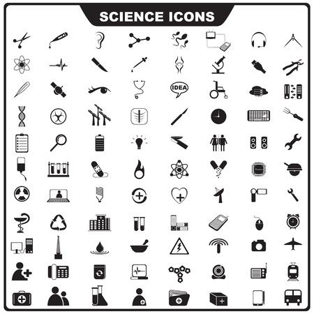 vaso de precipitado: Icono de la Ciencia Vectores