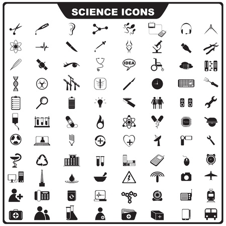 bunsen burner: Science Icon Illustration