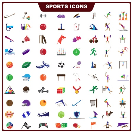 equipments: Colorful Sports Icon Illustration