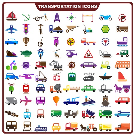 motor de carro: Icono colorido de Transporte Vectores