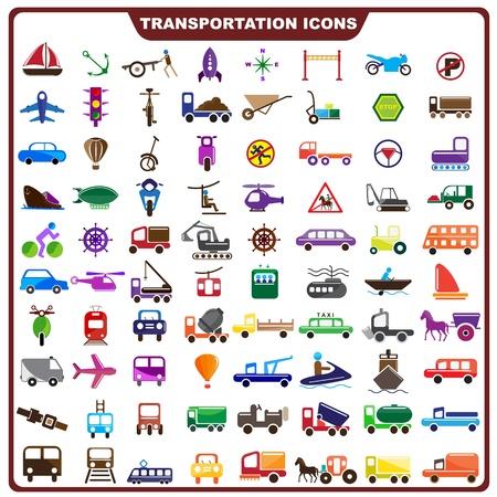 Kleurrijke Vervoer Icoon