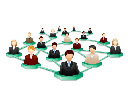 vector illustration of social human networking Stock Vector - 19372703