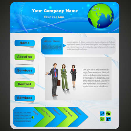 vector illustration of design for business website Vector