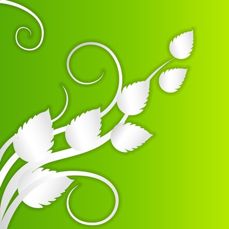 vector illustration of spring background with fresh leaf Vector