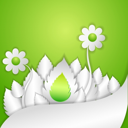 vector illustration of floral with leaf Stock Vector - 19504185