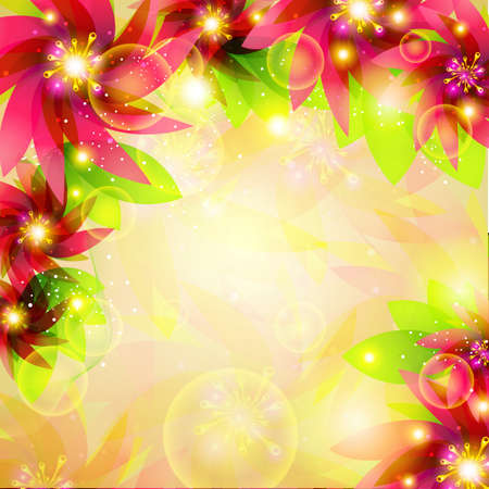 vector illustration of colorful floral background Stock Illustration - 19504176