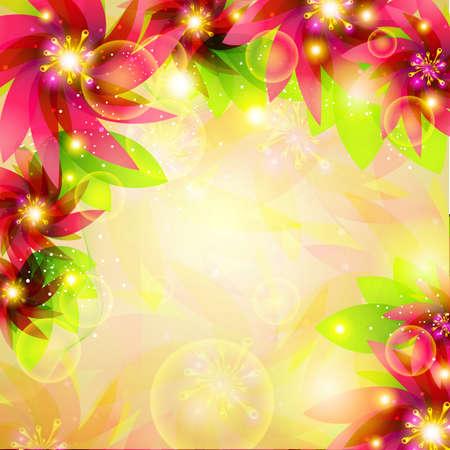 vector illustration of colorful floral background Stock Illustration - 19504176