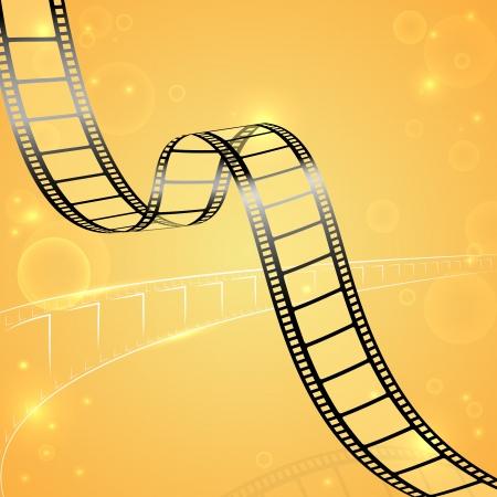 hollywood: Film Strip Background