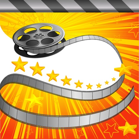 Filmy Background Vector