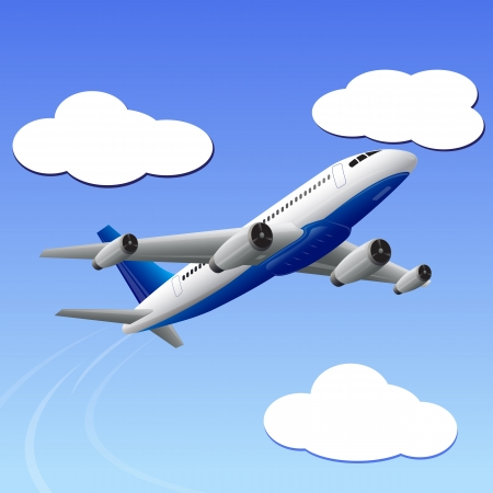 takeoff: Airplane travelling to your Destination