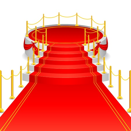 Stage with Red Carpet Vector