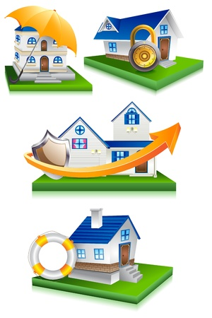 Home Protection Stock Vector - 19658909