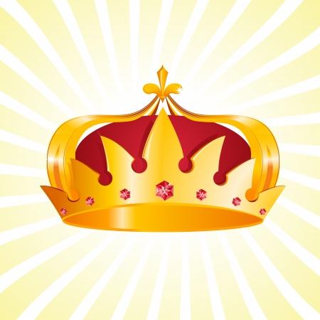 koninklijke kroon: Gouden Heraldische Crown Stock Illustratie