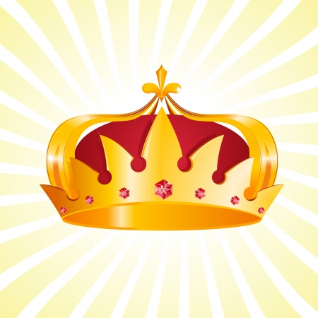 corona real: Oro Heráldico Crown Vectores