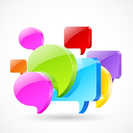 Colorful Chat Bubble Stock Vector - 19658952