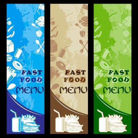 gourmet burger: Fast Food Menu Template Illustration