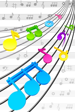 Musical Background Stock Vector - 19658962