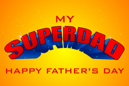 Superdad Father s Day Background Stock Vector - 19721197