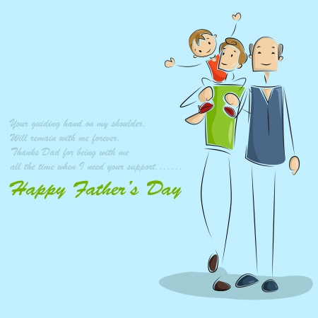 Father and son in Father s Day background Stock Vector - 19721192