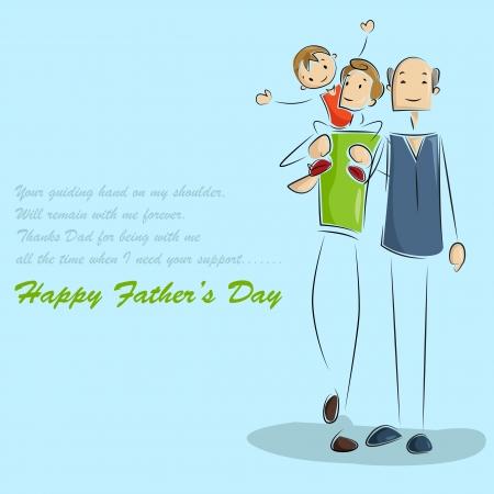 day of father: Padre e figlio in padre s Day background
