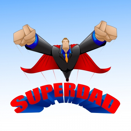 super guy: Superdad Illustration